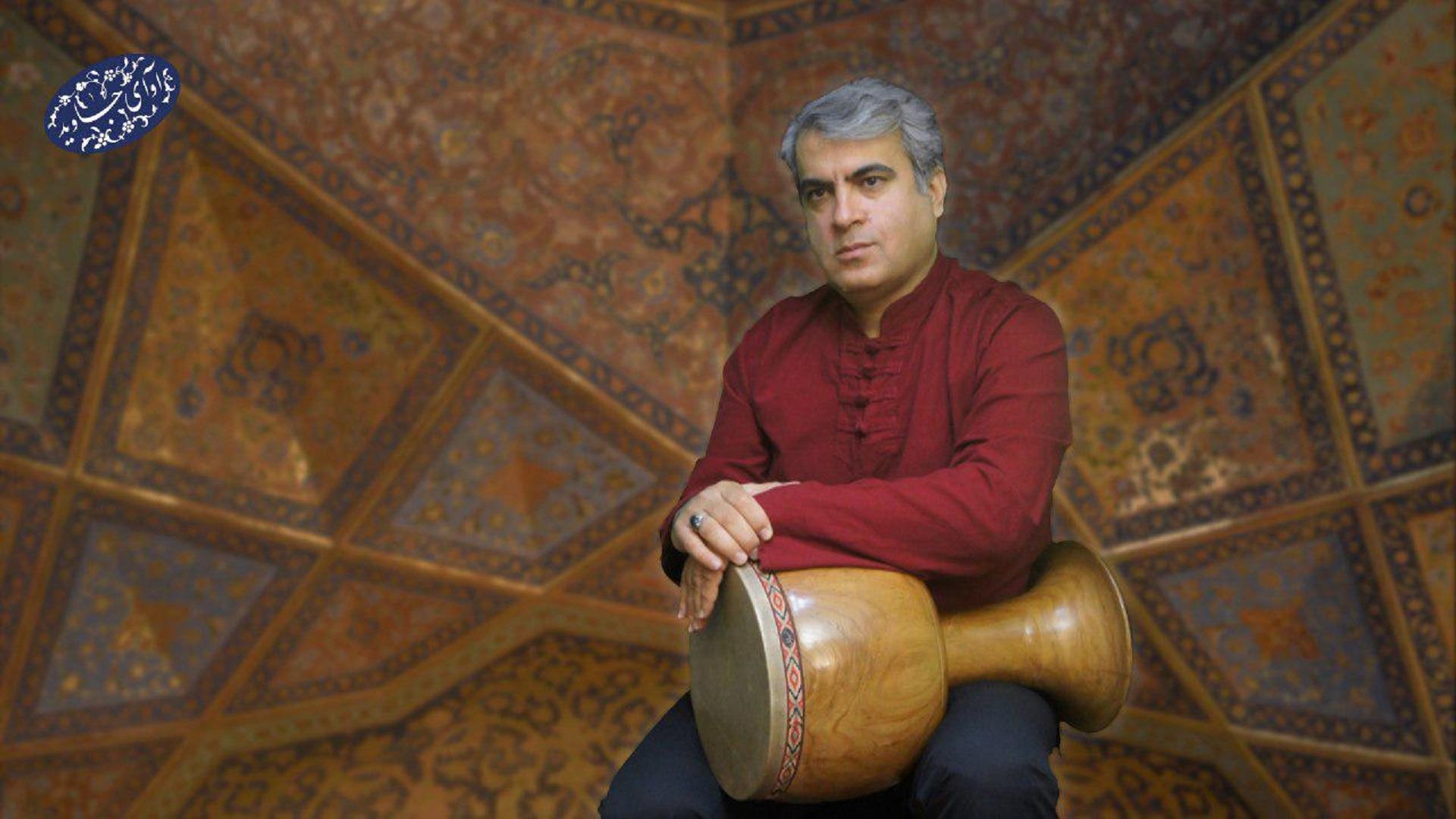 مهرداد مهدوی نوازنده تنبک در موسسه فرهنگی هنری آوای جاوید
